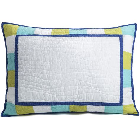 Patchwork Pillow Shams - c f enterprises cyan patchwork pillow sham standard