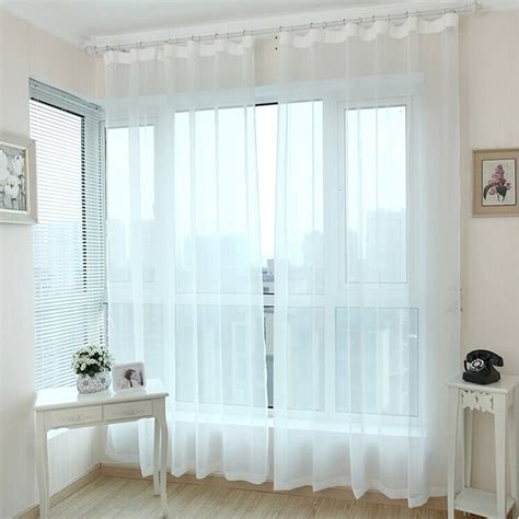sheer curtains clearance finished window transparent voile curtains panel tulle