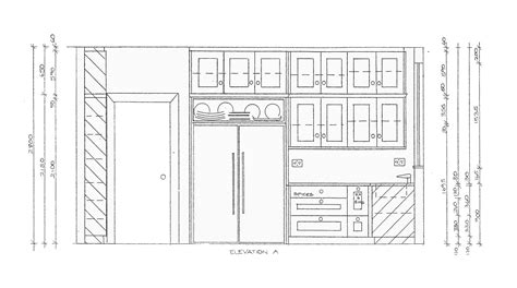 kitchen design template with modern space saving design