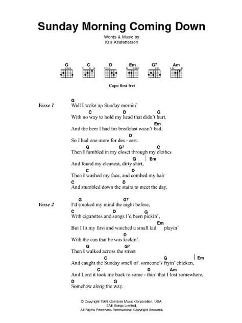 ukulele tutorial sunday morning sunday morning coming down sheet music direct
