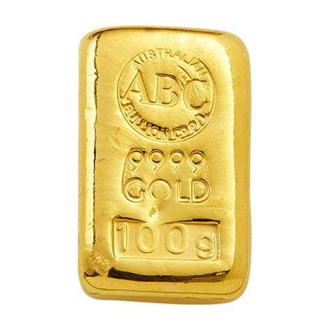 100 Gold Section 8 by 100 Gram Abc Gold Cast Bar