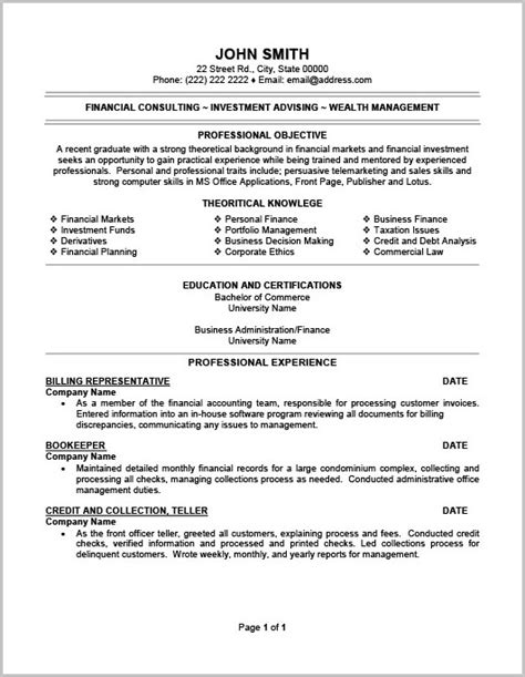 Objective For Resume Sles by Billing Resume Sles 28 Images Starter Resume No