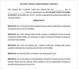Contract For Services Template Free by 7 Security Contract Templates Free Word Pdf Format