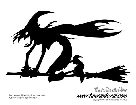witch silhouette template free printable witch silhouette for
