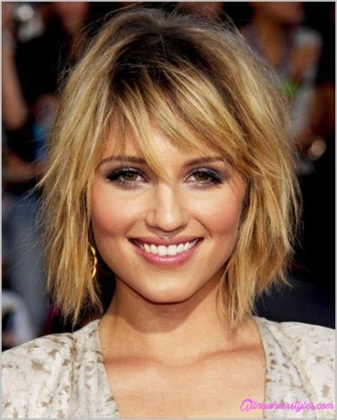 above shoulder shag layered bob with bangs medium length shaggy bob haircuts allnewhairstyles com
