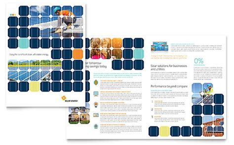 solar energy microsoft publisher brochure template