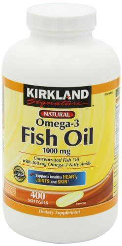 Fish Omega 3 Fatty Acids by Kirkland Signature Fish Concentrate With Omega
