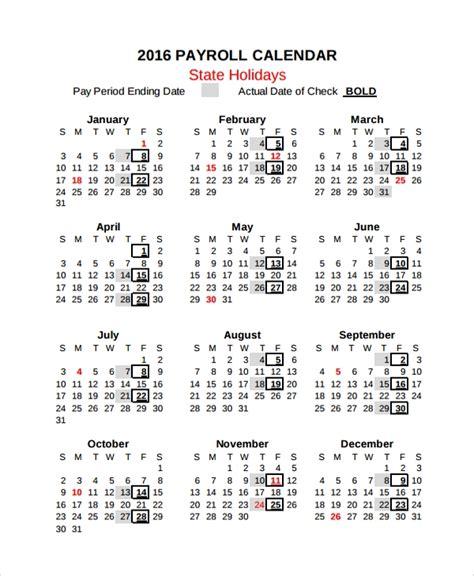 10 Payroll Calendar Templates Sle Templates Payroll Calendar Template