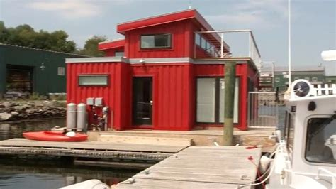 houseboat shipping belfast man builds houseboat out of shipping containers