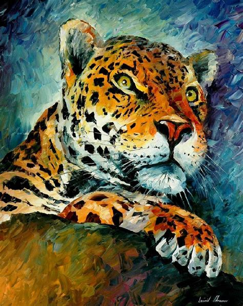Leopard Palette Knife Oil Painting On Canvas By Leonid Afremov Size 24 Quot X30 Quot 60cm X 75cm Animal Painting For