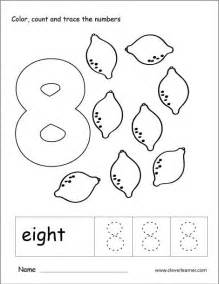 number eight writing counting and recognition activities