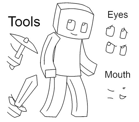 Minecraft Character Drawing Template minecraft base 1 by gameaddict1234 on deviantart