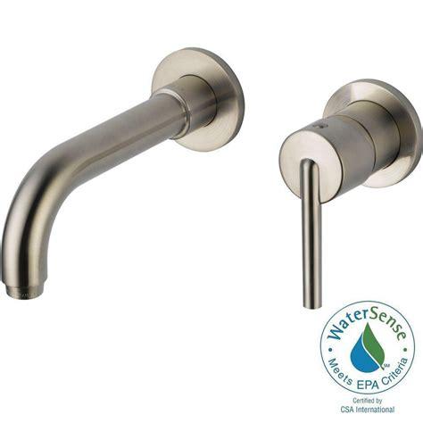 single handle wall mount bathroom faucet delta trinsic single handle wall mount bathroom faucet