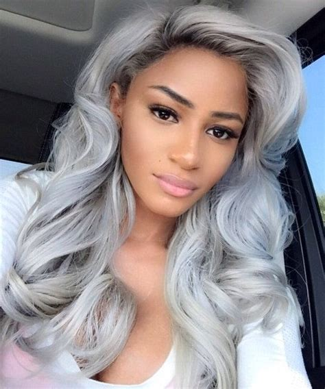 grey hair with with in the front natural hair style pictures follow me grey and indian