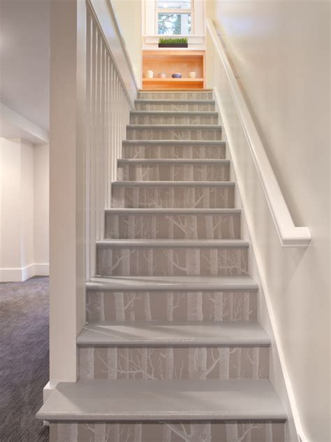 wallpaper design houzz wallpaper staircase design ideas pictures remodel and decor