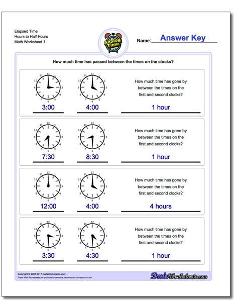 Elapsed Time Worksheets by Analog Elapsed Time
