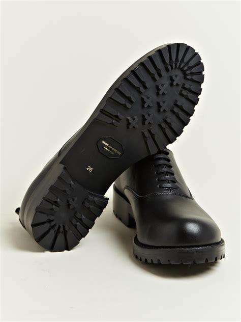 comme des garcons mens shoes comme des gar 231 ons mens cowhide leather shoes in black for