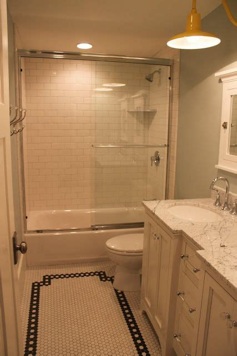 vintage subway tile bathroom hall bathroom like the mixture of the more modern sink