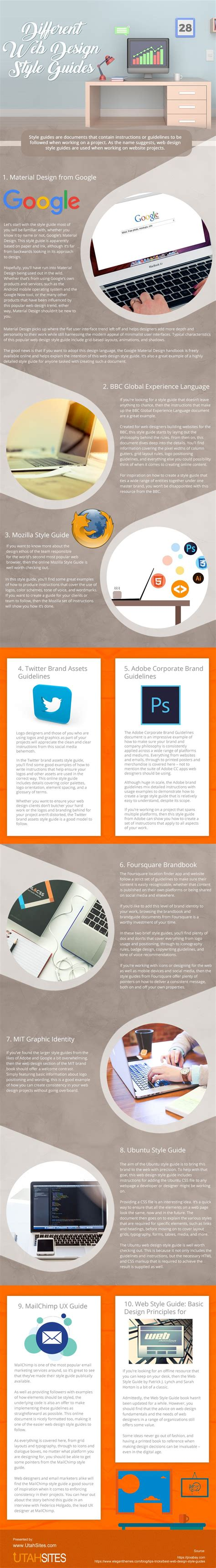 different layout in web design different web design style guides infographic