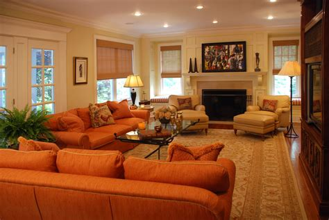 orange livingroom burnt orange sofa living room contemporary with burnt