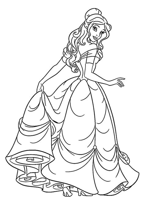 printable coloring pages belle princess coloring pages best coloring pages for kids