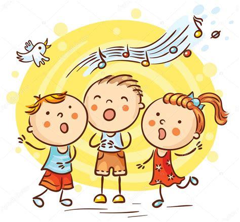 imagenes niños musica ni 241 os cantando canciones dibujos animados coloridos