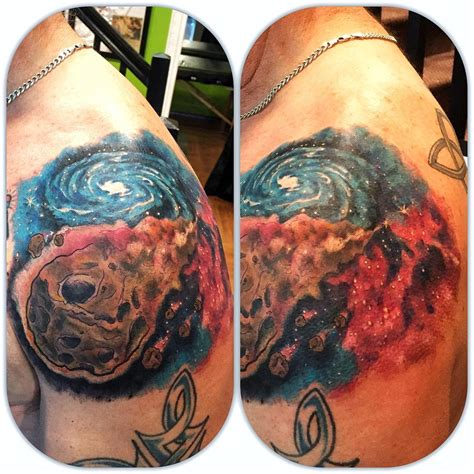 meteor tattoo astronomy archives level up studio