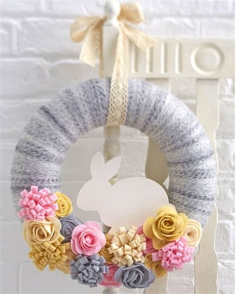 Home Decoration Craft by How To Make A Felt Easter Bunny Wreath Hobbycraft Blog