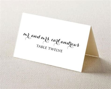 how to make place cards for weddings wedding place card printable template editable template
