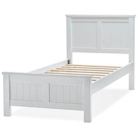 King Single Bed Frame Size Snow King Single Size Wooden Bed Frame In White Buy King Single Bed Frame