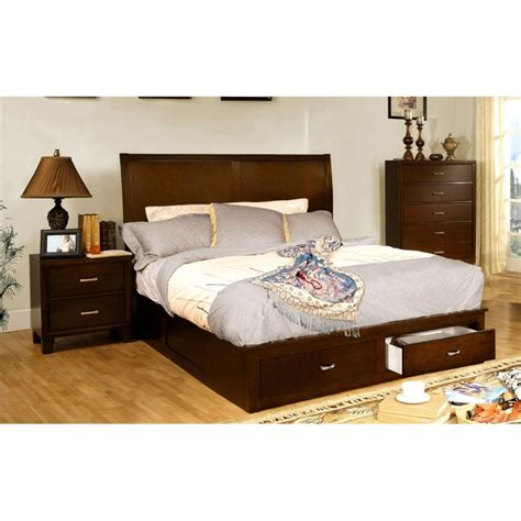 bedroom sets california king furniture of america ruggend 3 piece storage california