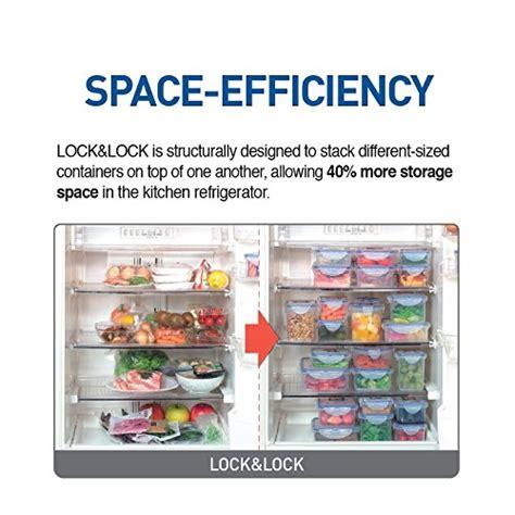 Lock Four Food Storage Set Of 3 Ungu Oi16 Oi16 lock lock airtight rectangular food storage container with cube trays 114 97 oz 14 37