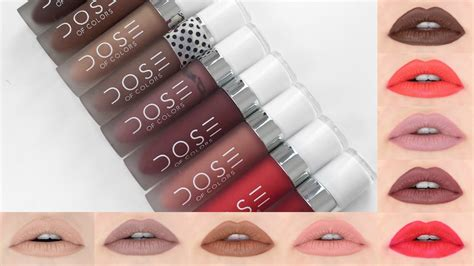 dose of colors swatches dose of colors liquid lipstick lip swatches review