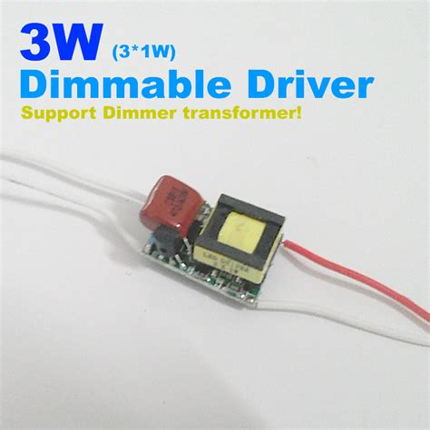Driver Led 3w 3w dimmable led driver support dimmer transformer 3 1w led adjustable driver high quality