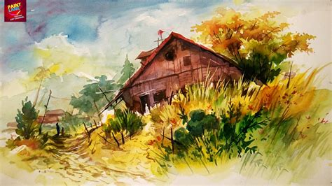 painting workshop scenery how to paint a simple landscape with easy strokes of