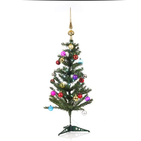 tree with baubles artificial indoor tree with led lights baubles