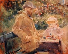 Berthe Morisot In The Dining Room Eugene Manet With His Daughter At Bougival Berthe