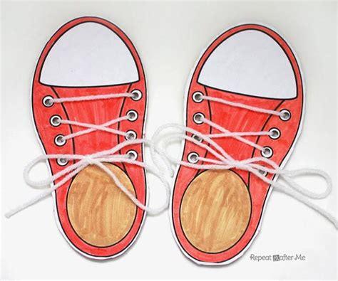 shoe tying for shoe tying practice printable allfreekidscrafts