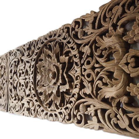 Carved Wood Headboard Pair Of Carved Panel Bed Headboard Siam Sawadee