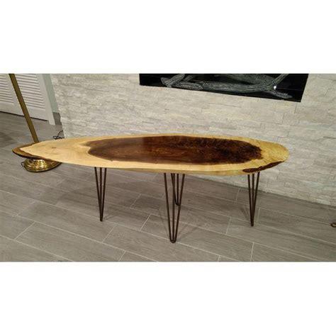 Walnut Table Legs by Oblong Walnut Table With 3 Rod Hairpin Legs Modern Legs