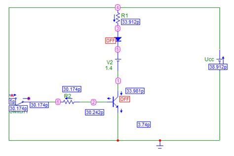 transistor bjt como interruptor 1 2 2 simulacion con el micro cap transistor bjt como interruptor ingen cajael