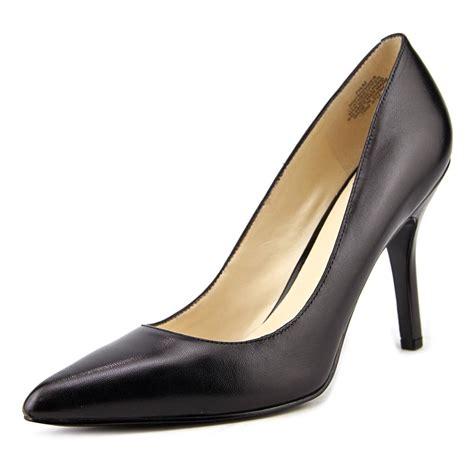nine west shimmer pointed toe leather black heels ebay