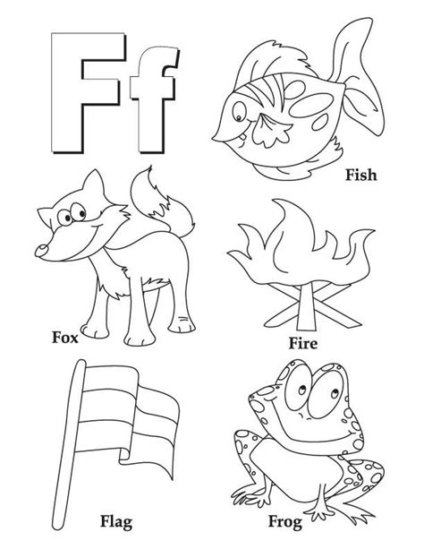 coloring page for the letter f my a to z coloring book letter f coloring page pictures