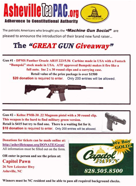Great Gun Giveaway - asheville tea party response to sandy hook great gun giveaway huffpost