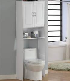 the toilet storage cabinet in the toilet shelving