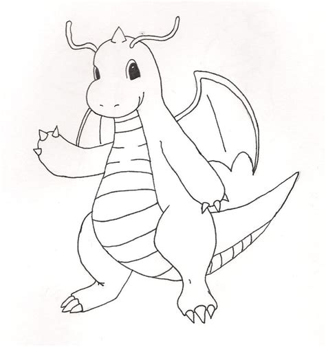 pokemon coloring pages dragonite dragonite lineart by wizardtypist on deviantart