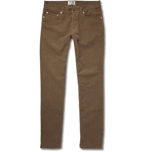 S Denim Bronzee Slim Fit Biru acne studios ace slim fit corduroy in brown for lyst