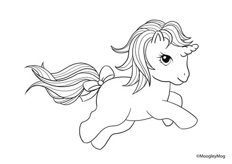 free coloring pages of little cute baby unicorn