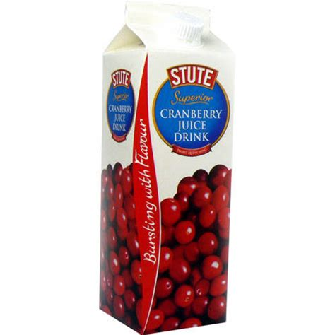How Much Cranberry Juice Should I Drink To Detox stute cranberry juice drink 1ltr by stute