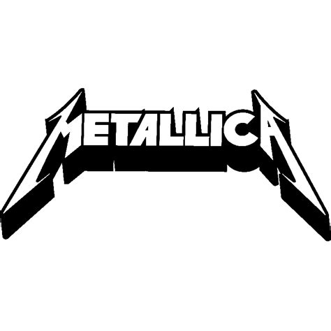 Metallica Stickers sticker logo metallica stickers musique cinema
